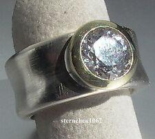 Einzelstück * Ring * 925 Silber * 585 Gold * Topas *