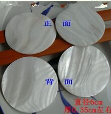 4Pcs Inlay material round shell dots white mother of pearl shell blanks 60*60mm