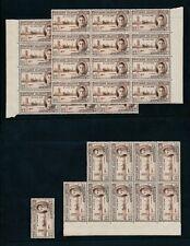 PITCAIRN ISLANDS KG6 1946 VICTORY 2d MINT UM 34 stamps in BLOCKS...cv £23