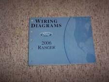 2006 Ford Ranger Electrical Wiring Diagram Manual XL STX XLT Sport FX4 4Cyl V6