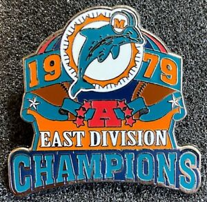 MIAMI DOLPHINS ~ 1979 AFC EAST DIVISION NFL CHAMPIONS LAPEL PIN Willabee & Ward