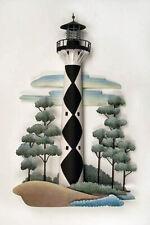 Wall Sculptures - Cape Lookout Lighthouse Metal Wall Sculpture - Nautical Decor