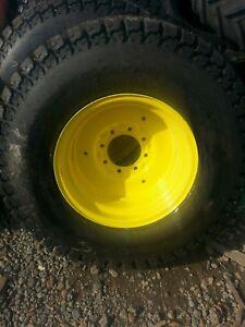 Pair 41 1400 20 turf tires deere wheels new