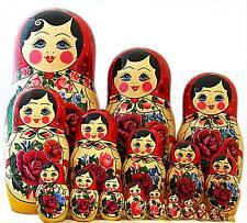 Semenovskaya 20 PC Russian Matryoshka Matrioskas Muñeca de gran tamaño de la Muñeca Anidamiento Muñeca