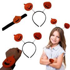 Dazzling Toys Halloween Design Slap Bracelet Pumpkin Headband Halloween Costume