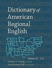Dictionary of American Regional English by Frederic G. Cassidy