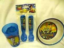 Toy Story Mealtime Dinnerware Set Bowl,Flatware (2 forks and 2 spoons) and Cup