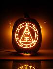 """Seal Of Metatron - SILENT HILL (Hand-Carved Foam Halloween Pumpkin 12"""")"""