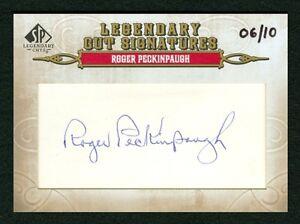 Roger Peckinpaugh 2011 Sp Legendary Cuts 06/10 Cut Signatures Auto Autograph
