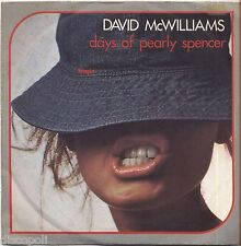 """DAVID McWILLIAMS - Days of pearly spencer VINYL 7"""" 45 LP 1976 NEAR MINT COVER VG"""