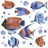 4 SERVIETTEN NAPKINS TROPICAL FISH 33X33 TROPISCHE FISCHE BLAU ROT  © MAGRIKIE