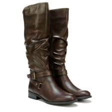 White Mountain Layton knee high boots tall riding boots brown sz 10 Med NEW