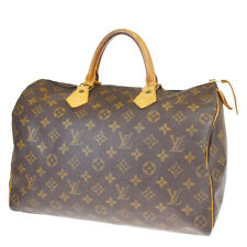 Auth LOUIS VUITTON Speedy 35 Travel Hand Bag Monogram Leather M41524 33BP213