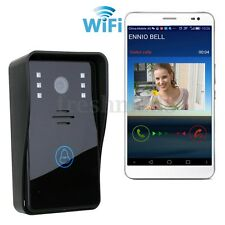 Wireless Wifi Remote Video Camera Phone Rainproof Intercom IR Door Bell Security