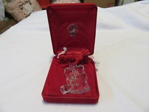 WATERFORD Signed Crystal Angel with Horn Ornament 1998