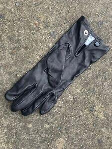 UK British Army Surplus Odd's Uniform Soft Black Leather Lightweight Gloves