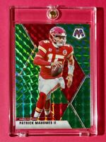 Patrick Mahomes GREEN PRIZM MOSAIC REFRACTOR CHIEFS POCKET ESCAPE #1 - Mint!