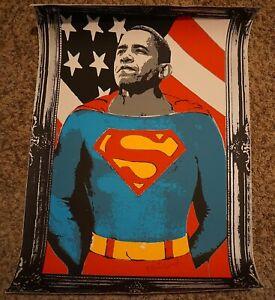 Obama Brainwash Banksy joke 2008 silkscreen SILVER poster political