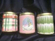 OPAL HOUSE set 3 HOLIDAY CANDLES frosted gingerbread, mulled wine, forest NEW