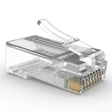 "100 pezzi Connettore LAN RJ45 CAT.6 8P8C 3U"" 1.1 mm Internet Network Plug"
