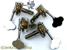 Double bass contrabass machine heads string tuning machines pegs tuners set of 4