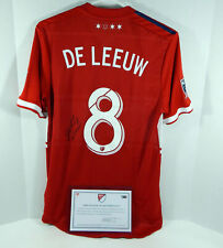 2018 Chicago Fire Michael De Leeuw #8 Game Used Signed Red Jersey Dp01090