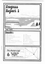 1978 V-CON PROGRESS REPORT #1 and Trevor McKeown sci-fi fanzine original art.