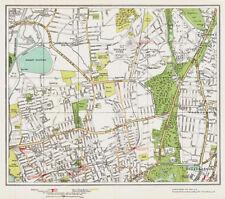 Walthamstow, Highams Park Map London 1932 #33-34