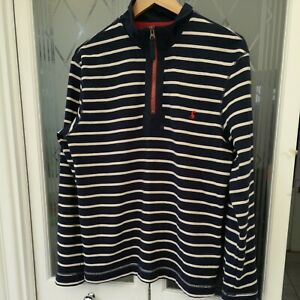 Joules Mens Rugby Shirt/top XL Blue Stripes Cotton 'DALE' VGC Small VGC