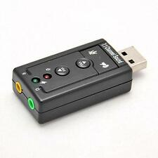 Mini USB 2.0 3D Virtual 480Mbps External 7.1 Channel Audio Sound Card Adapter WR