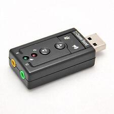 Mini USB 2.0 3D Virtual 480Mbps External 7.1 Channel Audio Sound Card Adapter G0