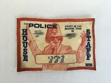 The Police Ghost In The Machine Tour '82 House Staff Pass
