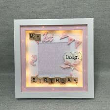 LED LIGHT BOX FRAME - MY 1st BIRTHDAY BABY BOY BABY GIRL - PHOTO FRAME GIFT