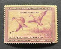 WTDstamps - #RW5 1938 - US Federal Duck Stamp - Small spots of missing gum