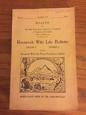 Roosevelt Wildlife Bulletin, Howard Dean, Adirondacks, October 1933, Vol 6, No 1