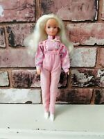 Vintage Hasbro My First Sindy Doll Redressed Pink Dungarees Candy Stripe 1980s