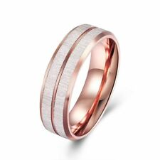 Rose Gold Tungsten Carbide Wedding Band Ring Grooved Center High Polish NEW*