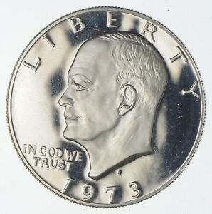 Silver SPECIALLY MINTED S Mint Mark 1973-S 40% Eisenhower Silver Dollar *926