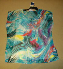 MILLERS 2 Piece Size 14. Modern Colourful Top With White Adjustable Singlet