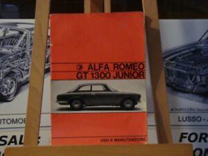 1971 Alfa romeo GT1300 junior instruction book