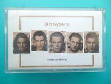 """BOYZONE   """" WHERE WE BELONG  """"  CASSETTE ( 1998 )"""