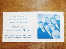 1950s Jessie & The James Boys Tidelands Motor Inn Terrace Room Table Card Ad