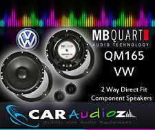 MB Cuarto QM-165 VW A medida Componente Kit 16.5cm Altavoces para Golf Mk4