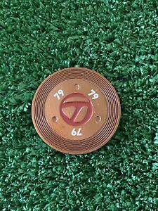 "BRAND NEW TaylorMade Patina Collection 79 Double Sided 1-1/2"" Golf Ball Marker"