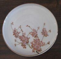 Koshida Japan Hand Painted Rimmed Saucer Violet Floral Pattern
