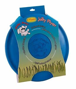 Jolly Flyer Rubber Dog Frisbee 9.5 inch Blue