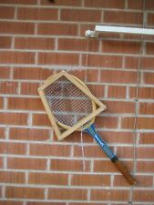 Vintage ** ROSEMARY ROSIE CASALS ** Spalding Wooden Tennis Racket with Brace USA