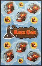 Dr. Stinky's Scratch & Sniff Stickers - Race Car - Mint Condition!!