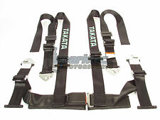 "Takata Drift II Snap-On Seat Belt Safety Harness Black 2"" Shoulder/Lap 4-Point"