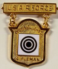US Air Force Distinguished Rifleman Badge Medal Circa 1980's-90's National Match
